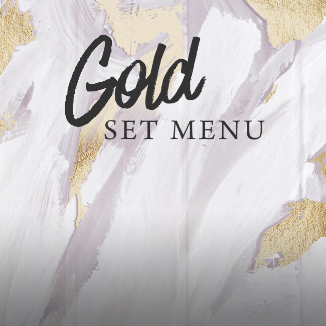 Gold set menu at The Derby Arms
