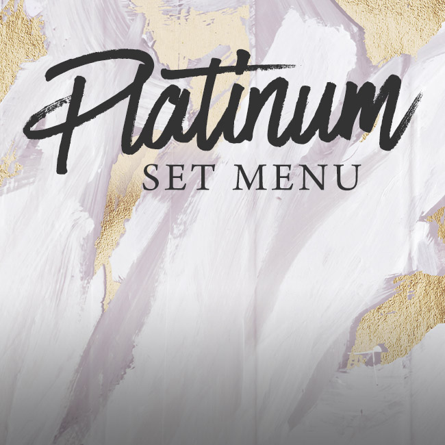Platinum set menu at The Derby Arms