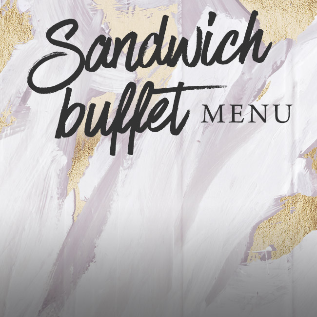 Sandwich buffet menu at The Derby Arms
