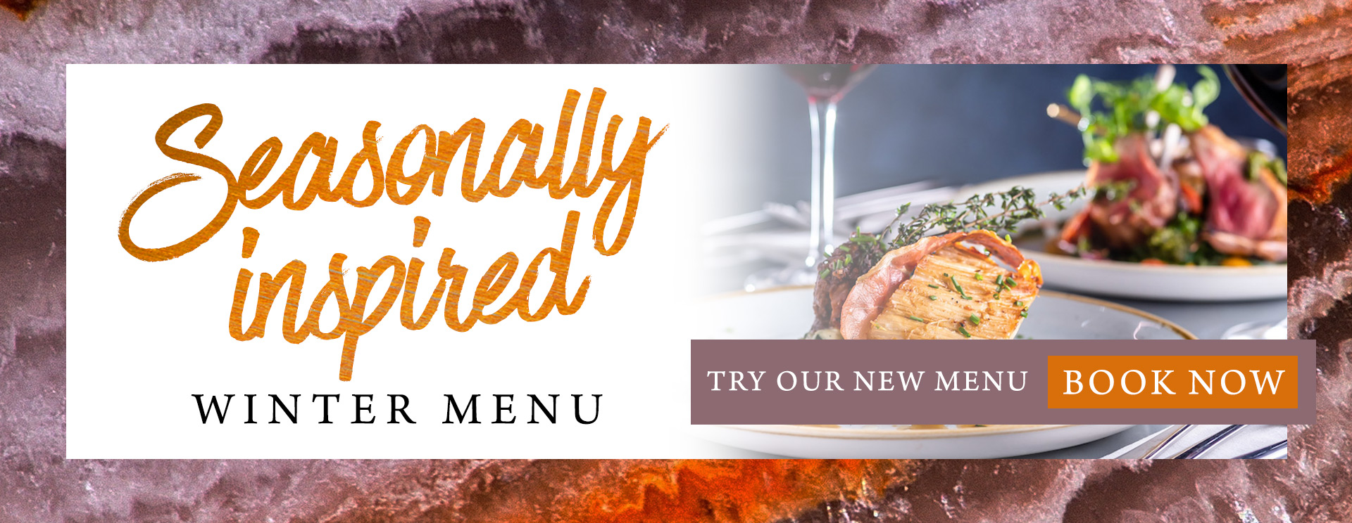 Our new winter menu at The Derby Arms