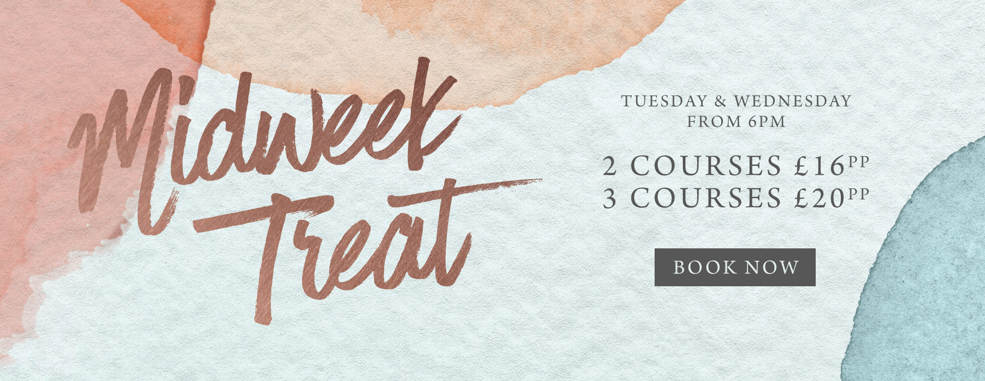 Midweek treat at The Derby Arms - Book now