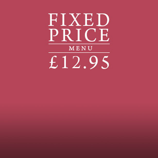 Fixed Price Menu at The Derby Arms
