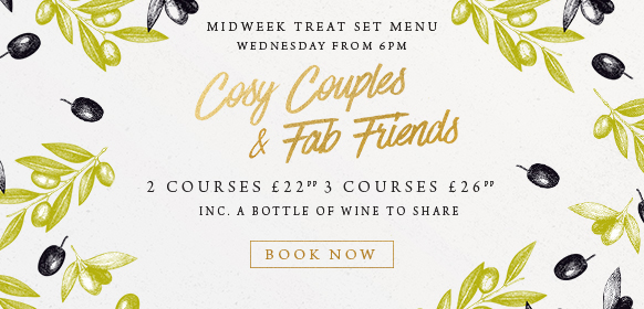 Midweek treat set menu at The Derby Arms